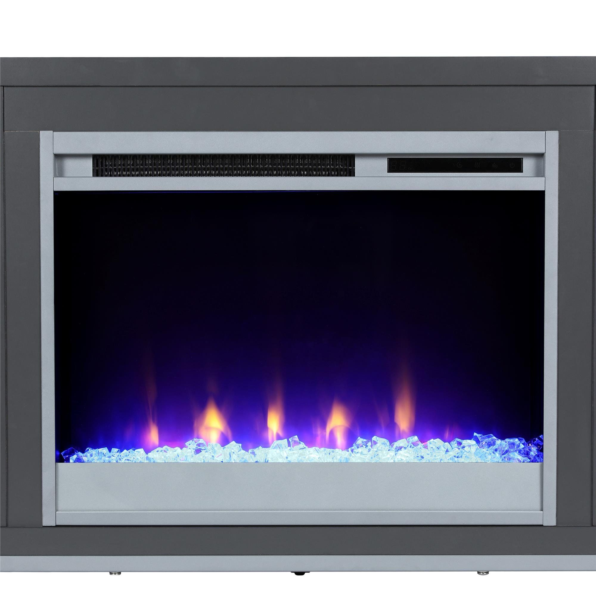 Ameriwood Home 1822296com Lumina Fireplace Tv Stand Graphite
