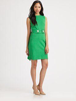 Milly - Kristen Button Shift Dress