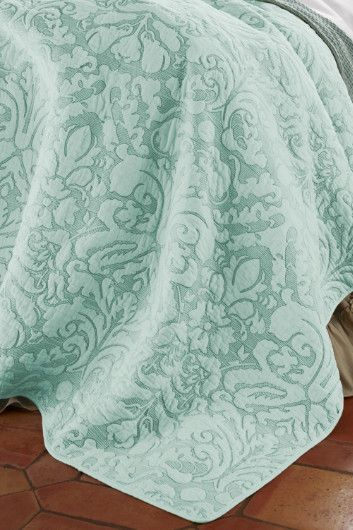 Amalfi Quilt - Damask Bedspread, Quilts, Bedding | Soft Surroundings.