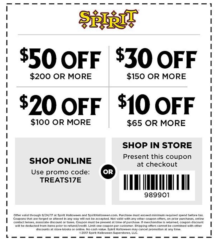 Spirit Halloween 🆓 Coupons & Shopping Deals! Spirit