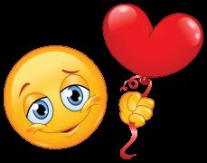Küssender Smiley Mit Herz