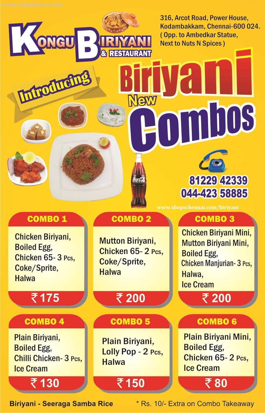 Biriyani Kodambakkam Biriyani Home Delivery Chennai