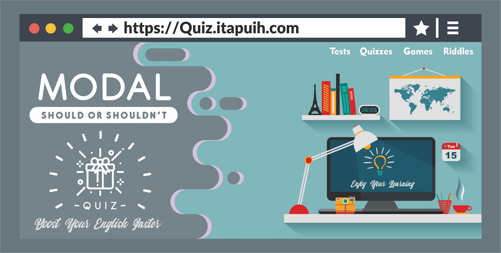 Quiz Itapuih Com 20 Soal Bahasa Inggris Should Or Shouldn T Dan Jaw Quizzes Games Quizzes Riddles