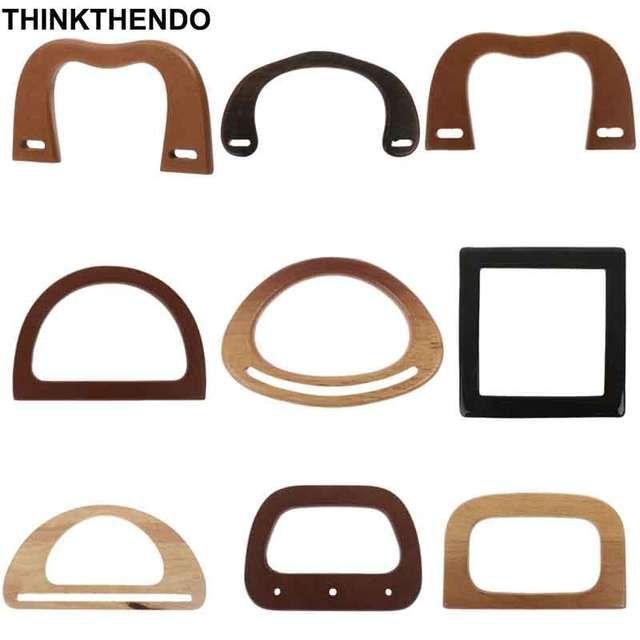 Online Shop M D Square Shape Wooden Bag Handle Replacement For Diy Shoulder Bag Making Handbag Tool Asas Para Bolsos Bolsas De Madera Bolsas Artesanales