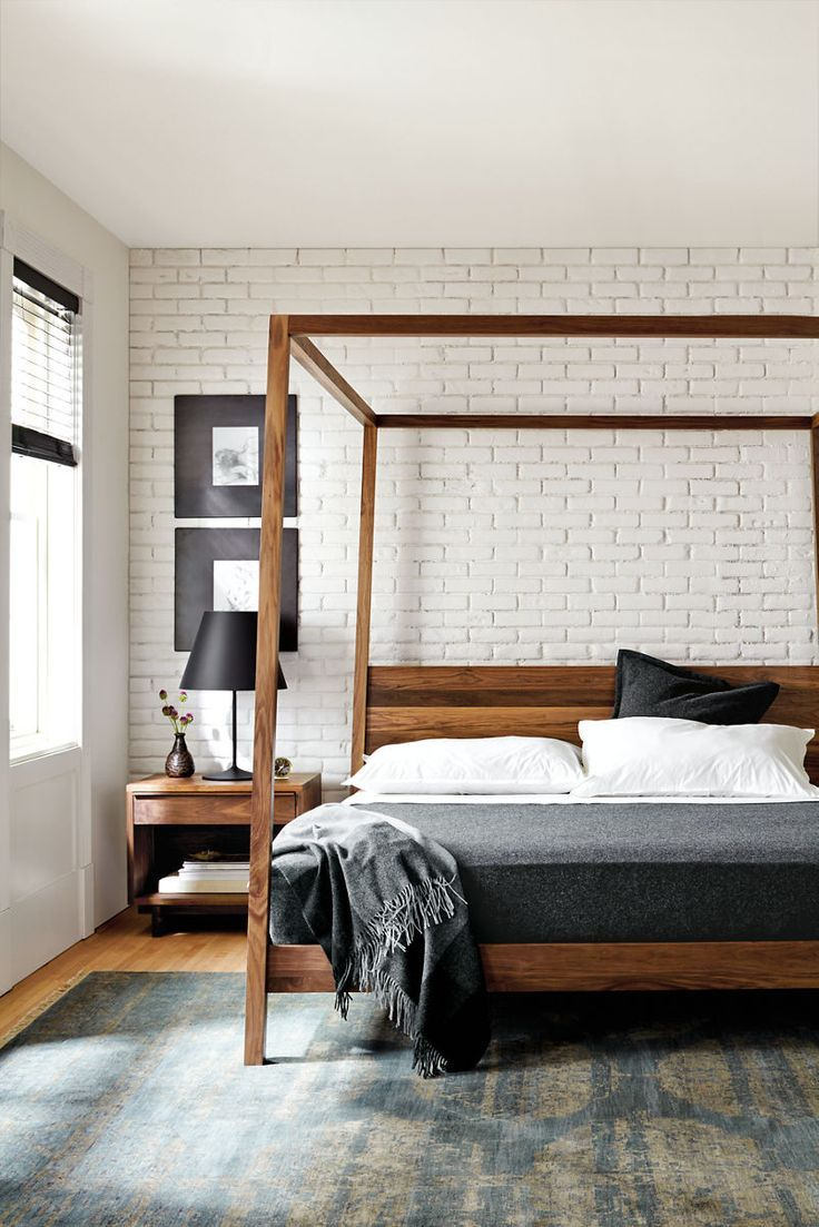 Master Bedroom 21 Modern Interior Design Ideas Emphasizing White Brick Walls Tags Accent Wall
