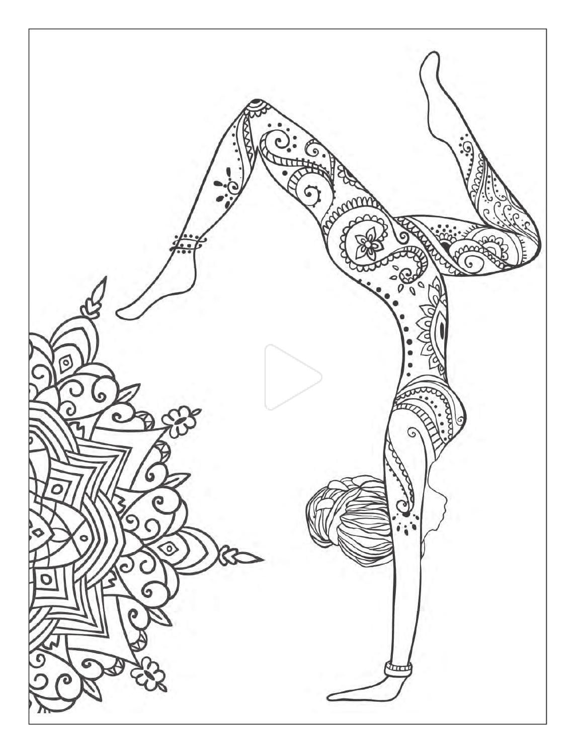 Yoga And Meditation Coloring Book For Adults With Yoga Poses And Mandalas Yoga Art Mandala Design Art Mandala Coloring [ 1496 x 1147 Pixel ]