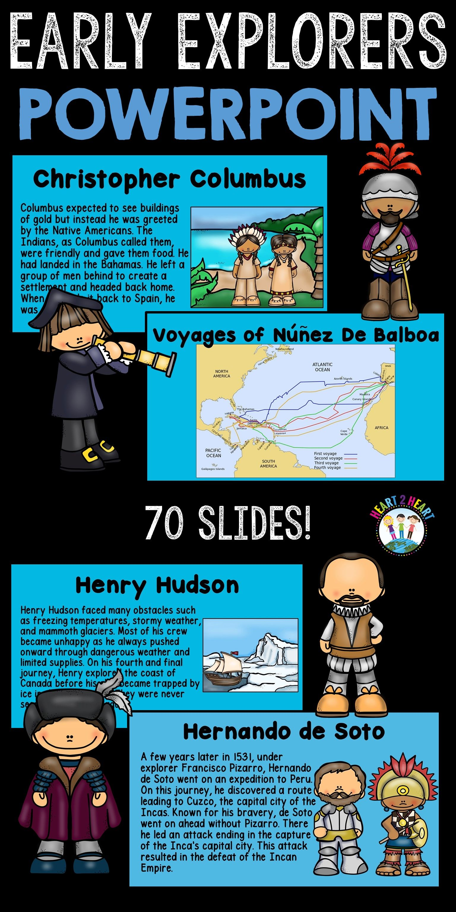 hight resolution of Students will learn about 6 early explorers with this 70 slide PowerPoint  Presenta…   3rd grade social studies