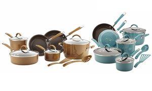 Groupon - Temporary Price Cut: Rachael Ray Cucina Hard Enamel Nonstick Cookware Set (12-Piece) . Groupon deal price: $114.99