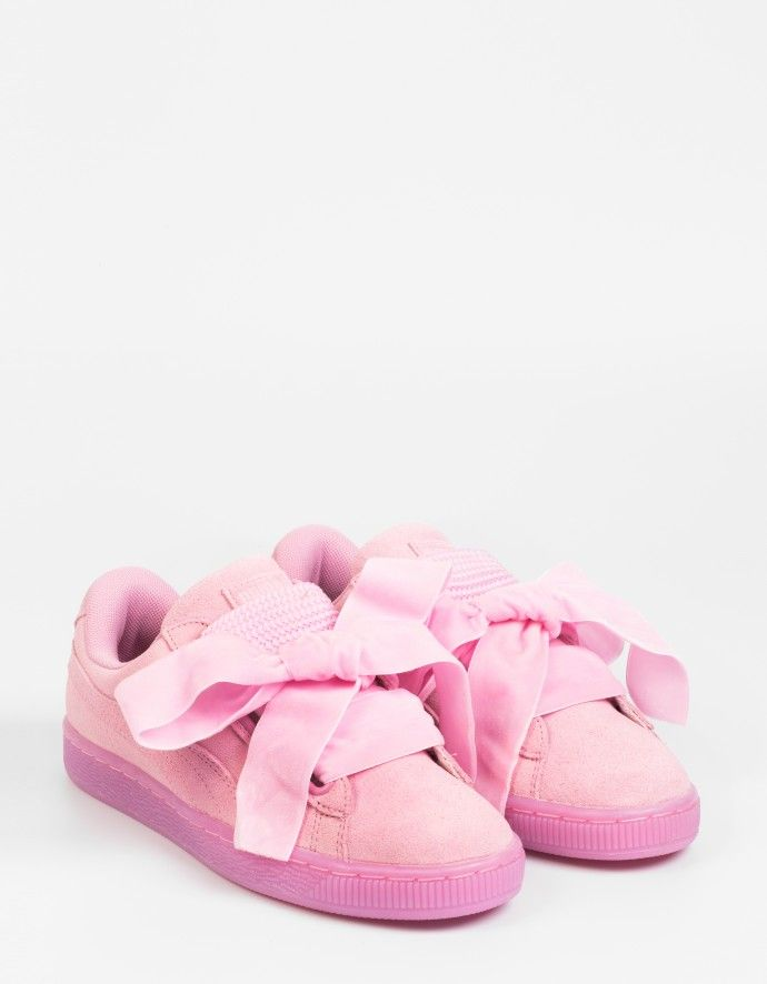 puma suede heart satin rose