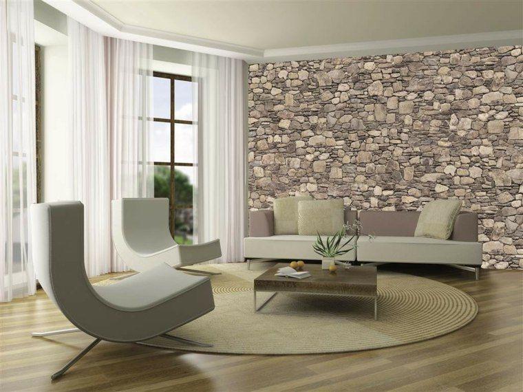 papier peint imitation pierre d coration murale originale salons. Black Bedroom Furniture Sets. Home Design Ideas