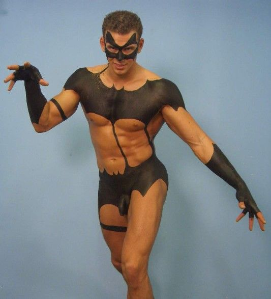 Full body paint nude men #7