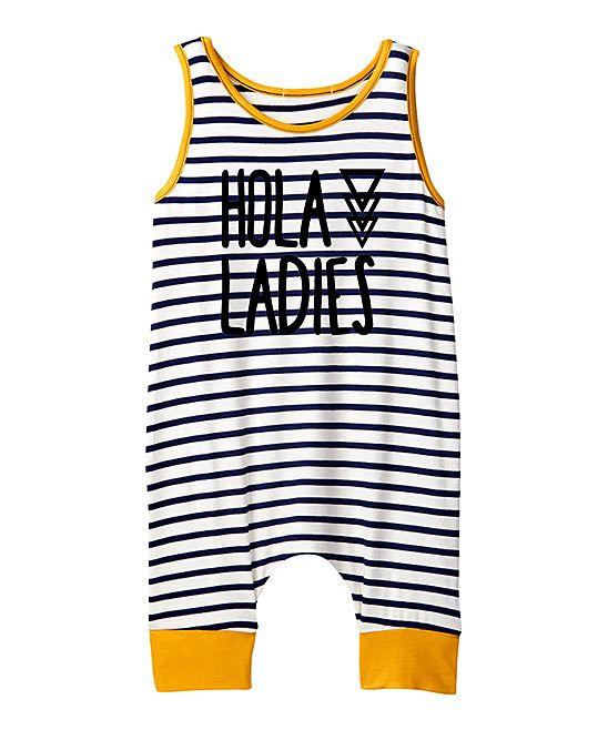 c20c9464bce Navy   White Stripe  Hola Ladies  Tank Romper - Infant   Toddler ...