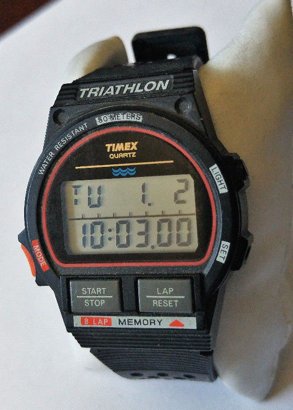 461d87f39 1991 vintage timex #ironman #triathlon mens watch #sports digital very good  cond!