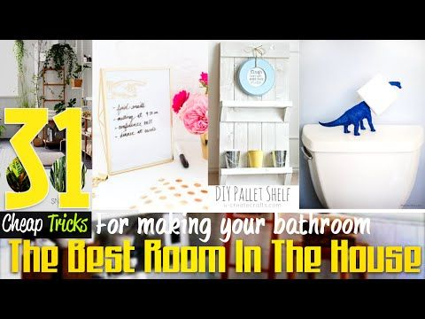 31 Sweet and Cheap Bathroom Decor ideas - http://www.eightynine10studios.com/31-sweet-and-cheap-bathroom-decor-ideas/