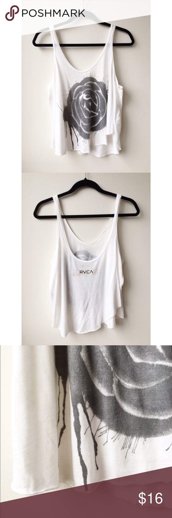 RVCA Tank EUC! No trades or PP. Offers are welcome through the offer button feature. RVCA Tops Tank Tops
