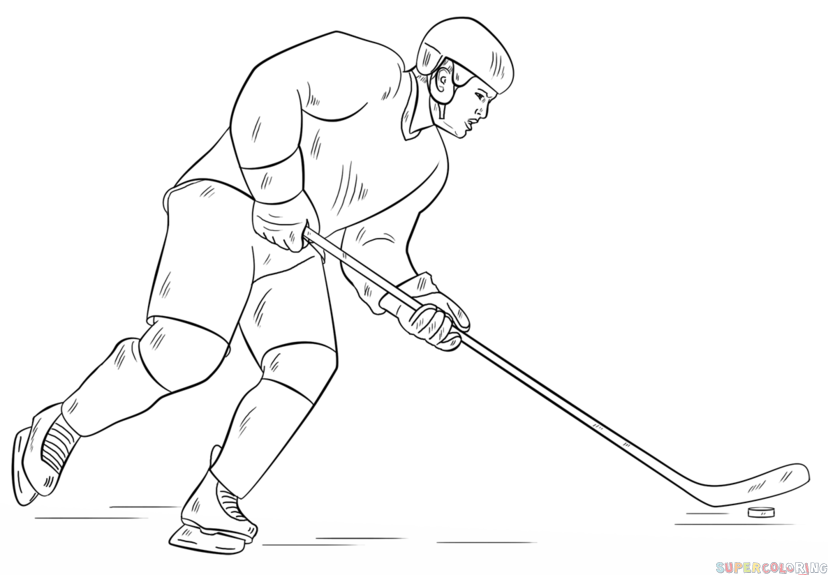 How To Draw A Hockey Player Step By Step Drawing Tutorials For Kids And Beginners Hockey Drawing Hockey Players Drawing Tutorials For Kids