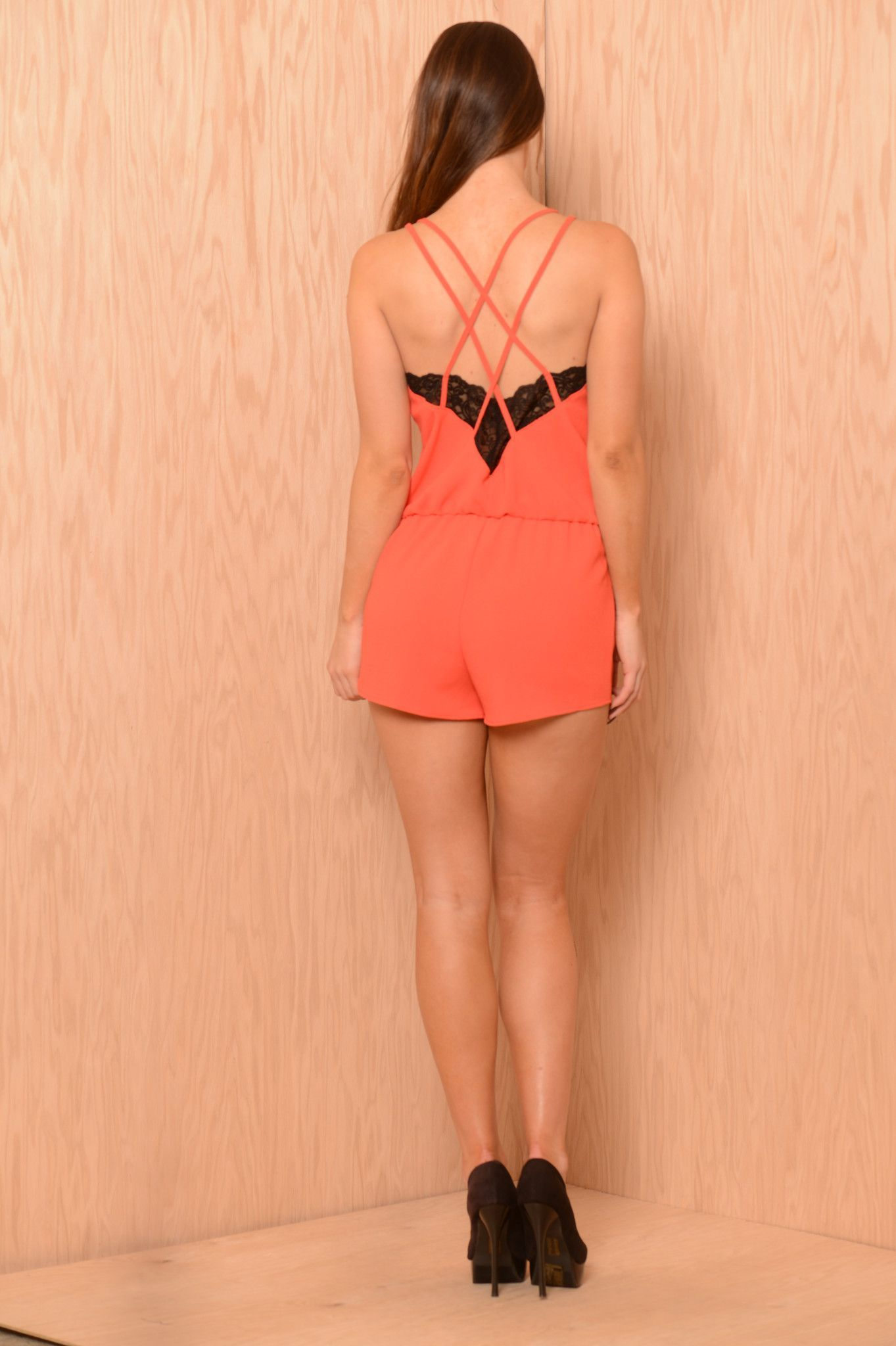 Dreaming of You Romper - Coral