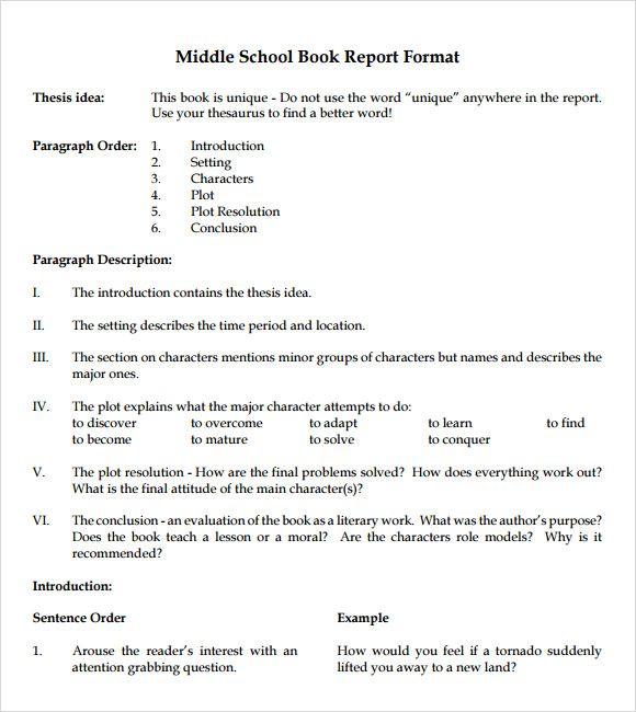 Book report Writing Pinterest Book report templates