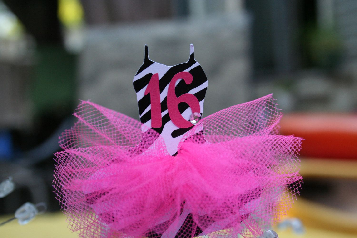 Pink And Black Sweet 16 Decorations Zebra Print Ballerina Sweet 16