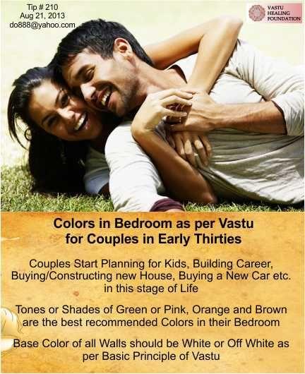 Colors In Bedroom As Per Vastu For Couples In Early Thirties
