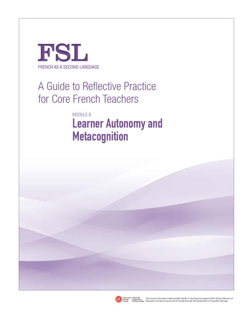 A Guide to Reflective Practice for Core French Teachers - FSL Amazing downloadable resources!