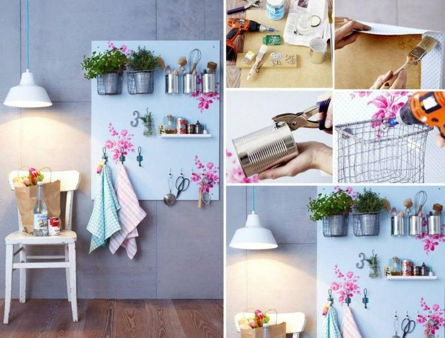 Creamos un bonito y econ mico organizador para nuestra for Objetos para decorar cocinas