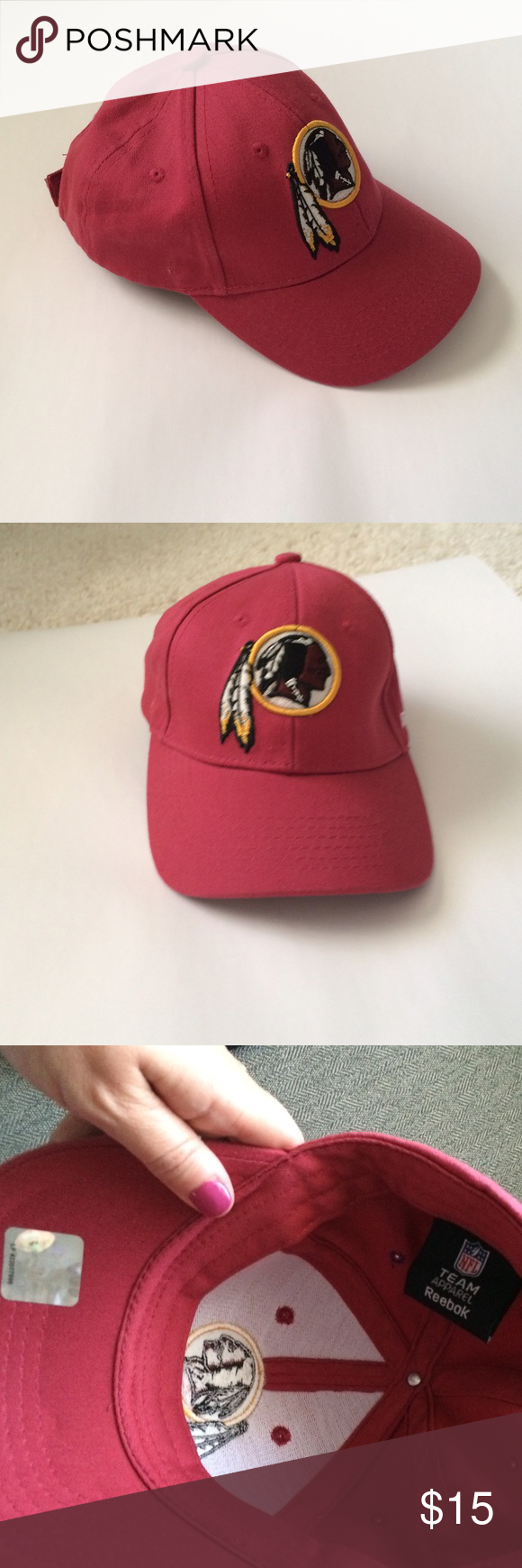 64ed60c03 NFL Redskins  boys  Hat Reebok Maroon Redskins hat
