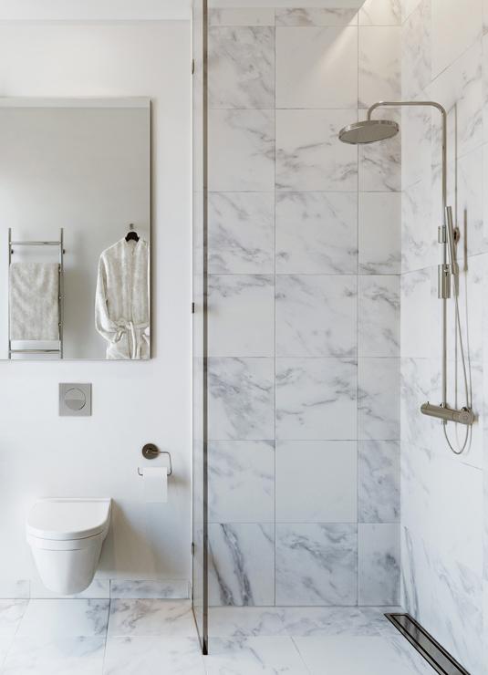 Vackert Badrum Inredning Feng Shui And Modern Marble Bathroom