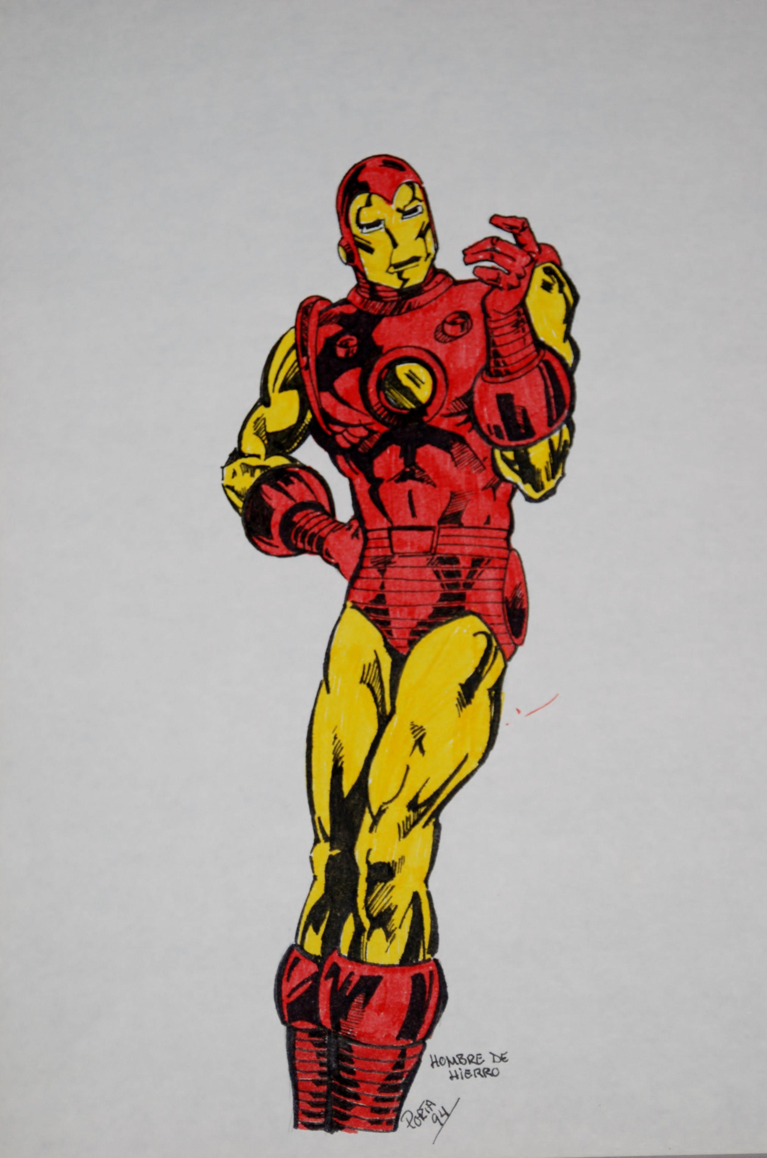 Dibujo Iron Man Clasico Ironman Dibujo Dibujos Man