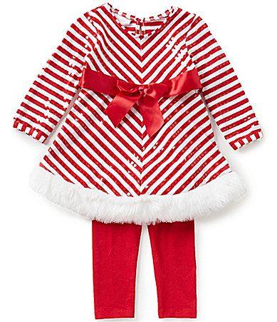 Bonnie Baby Baby Girls Newborn24 Months Christmas MiteredStripe Dress and  Solid Leggings Set #Dillards - Bonnie Baby Baby Girls Newborn24 Months Christmas MiteredStripe