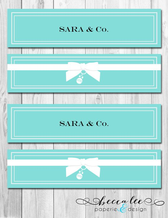 0384566153 tiffany mailing labels | Water Bottle Labels - Tiffany & Co Inspired Baby  Shower - DIY .