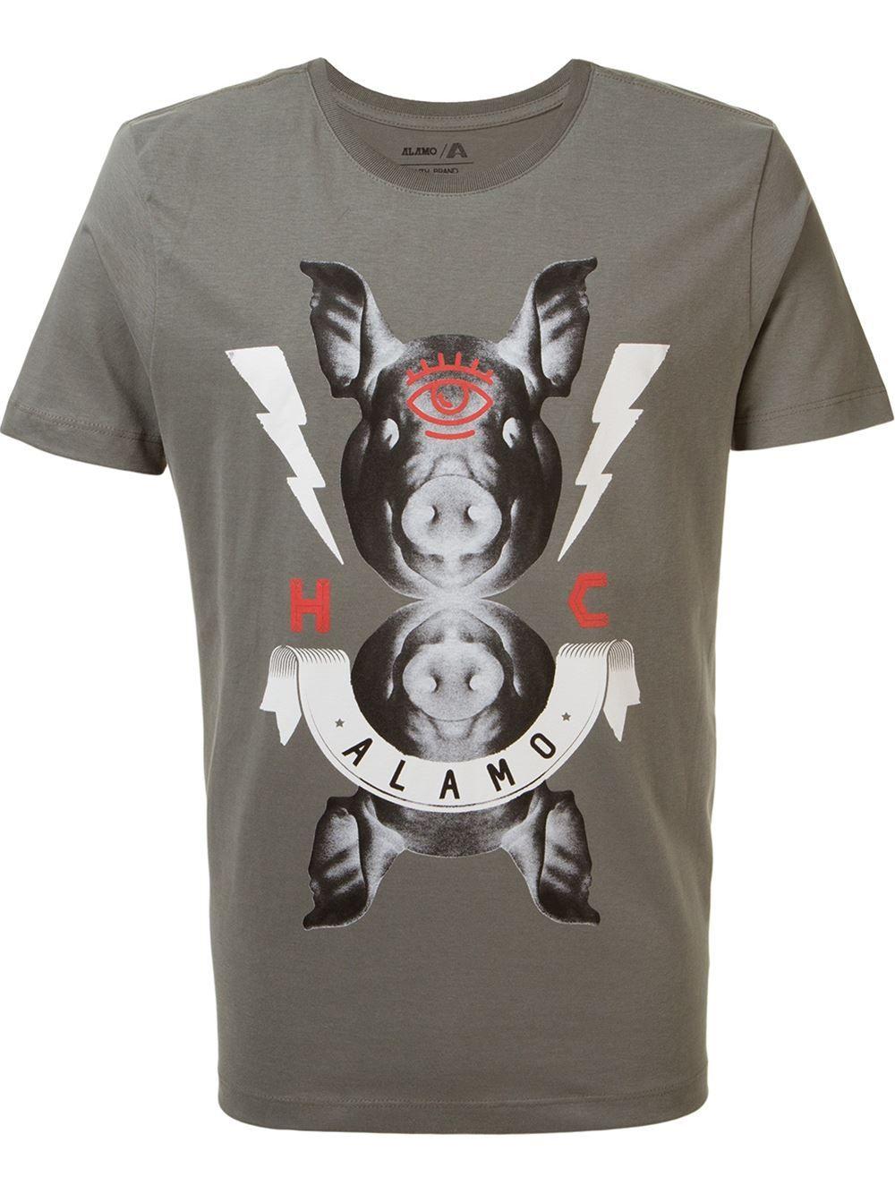 Alamo Camiseta Com Estampa - Linoleum - Farfetch.com. Alamo Camiseta Com  Estampa - Linoleum - Farfetch.com Camisetas Masculinas 8200af55e04