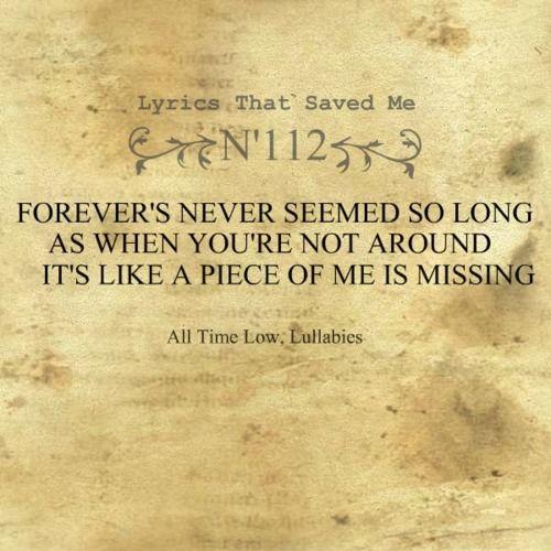 Lyrics that saved me