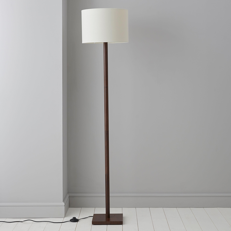 Caen Wood Effect Floor Lamp | Floor lamp, Black wood and Woods