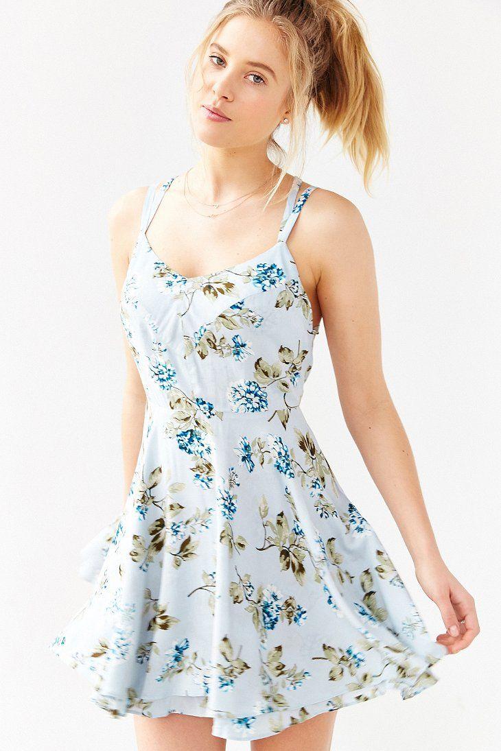 83fcfe5bffa Kimchi Blue Scarlett Fit + Flare Dress - Urban Outfitters
