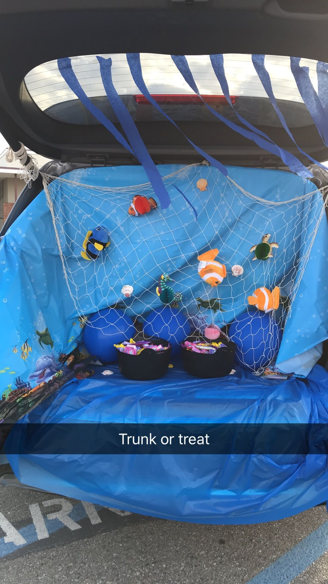 Under the sea themed trunk or treat. #trunkortreatideasforcarsforchurch