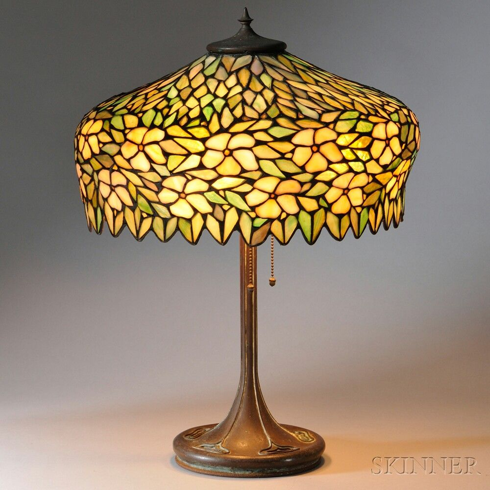 Mosaic Glass Table Lamp Attributed To Unique Art Glass Metal Co New York Early 20th Century Mosaic Glass Glass Table Lamp Stained Glass Lamps