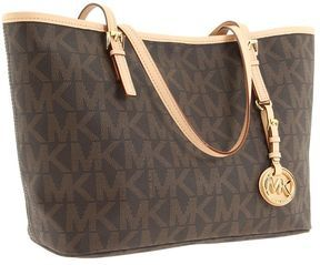 5e0097d708a7aa shopstyle.com: MICHAEL Michael Kors - Jet Set Travel Logo Small Tote (Brown)  - Bags and Luggage