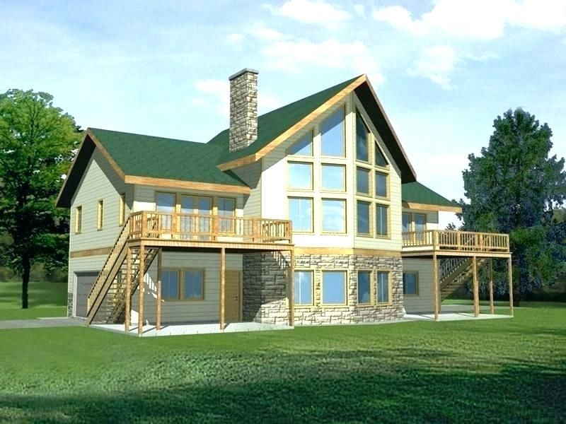 House Plans For Views To Rear Water View House Plans House Plans With A View Of The Water Lake H Garage House Plans Contemporary House Plans Simple House Plans