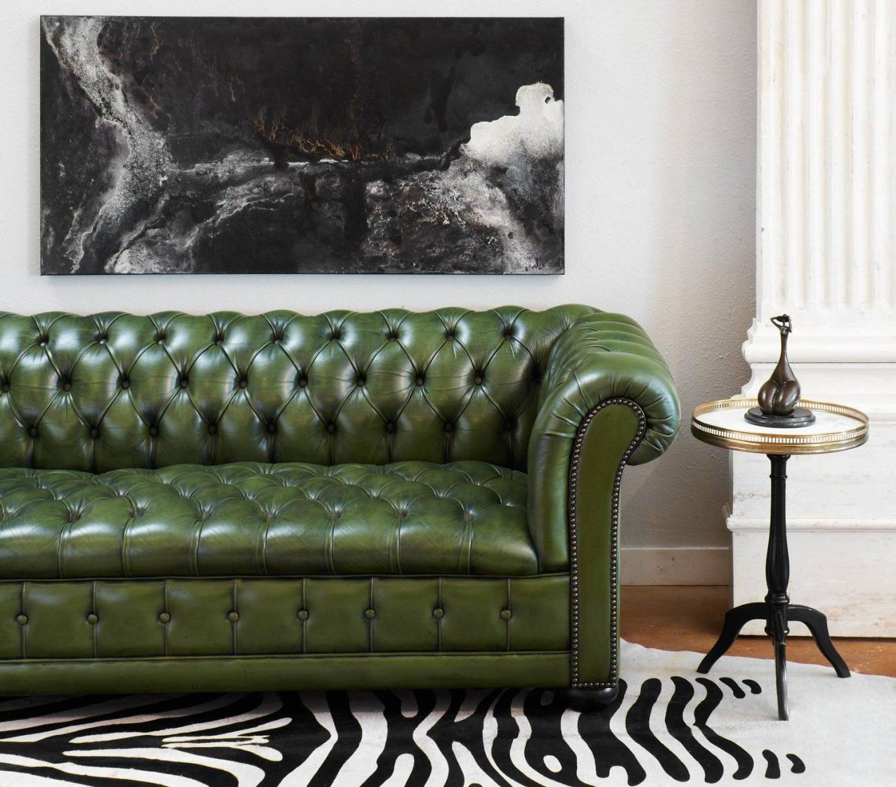 - Green Leather Chesterfield Sofa Green Leather Chesterfield Sofa