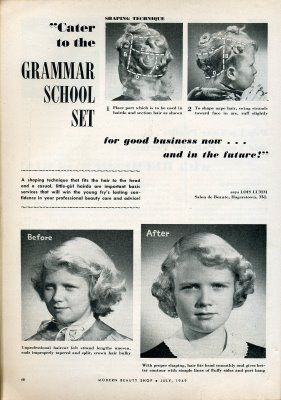 Children S Hairstyle 1950 S Kids Hairstyles Retro Beauty Retro Hairstyles