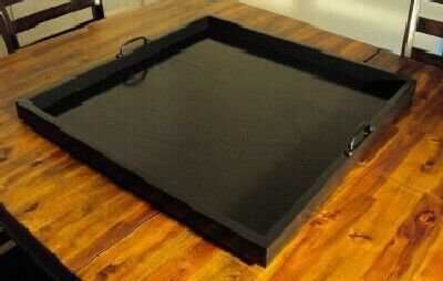 Admirable 30X30 Black Ottoman Tray By Goodstuffhandmade On Etsy Wish Pdpeps Interior Chair Design Pdpepsorg