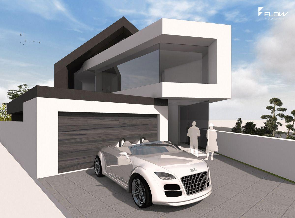 Moderne stadtvilla mit satteldach mannheim architektur for Hausbau modern satteldach
