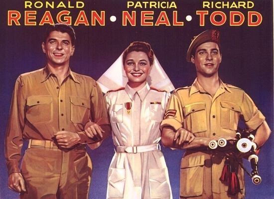 The hasty heart Ronald Reagan vintage movie poster