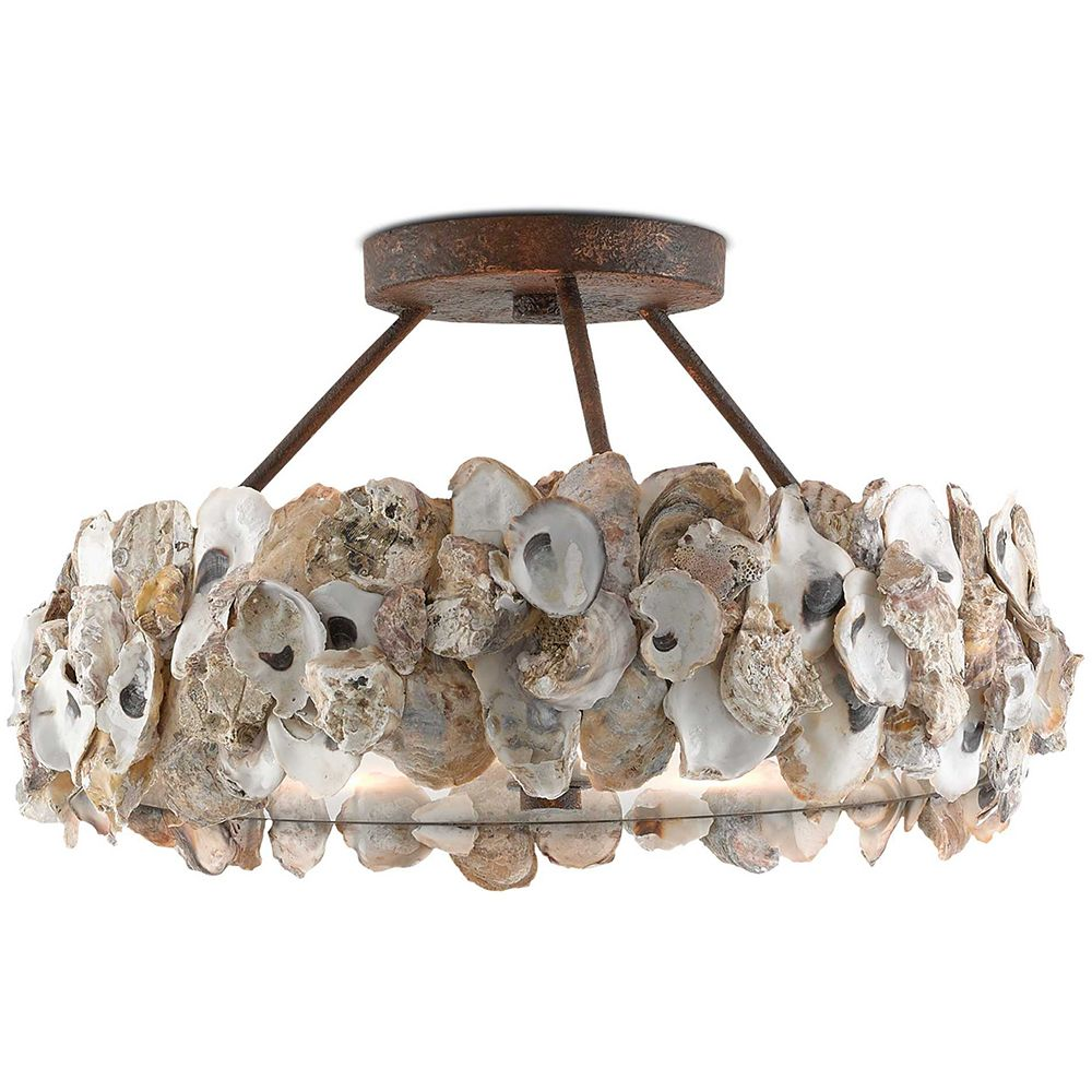 Rustic oyster chandelier natural coastal coastal chandeliers the hedy chandelier lighting cream from currey and company arubaitofo Choice Image