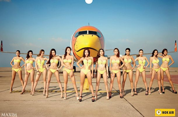 Nude flight attendant calendar photo 139