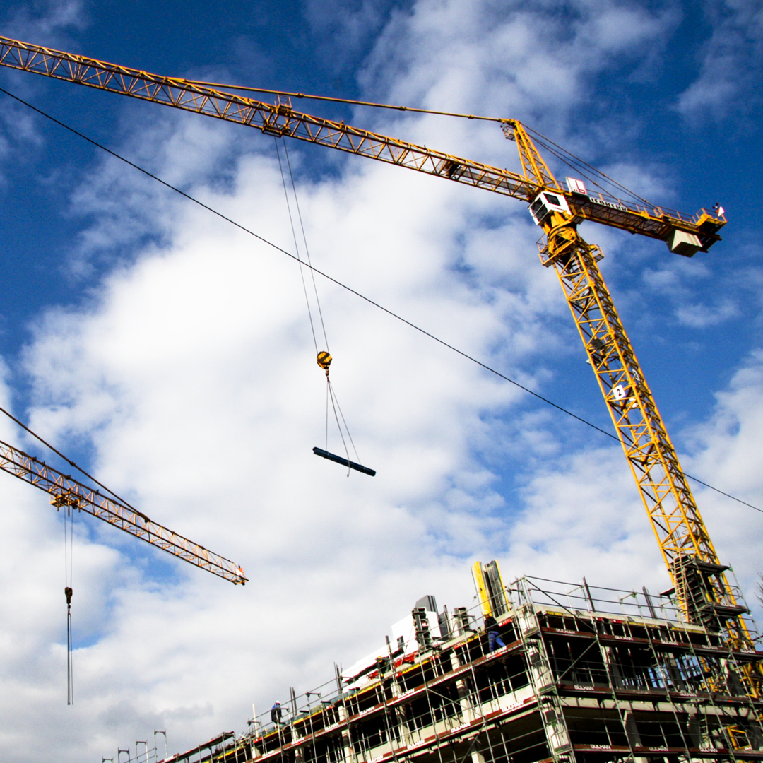 The construction industry builds, repairs, and maintains