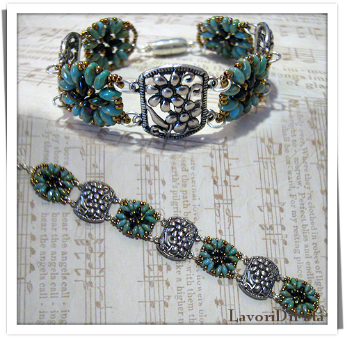 LavoriDiFata: Braccialetto...perline e metallo