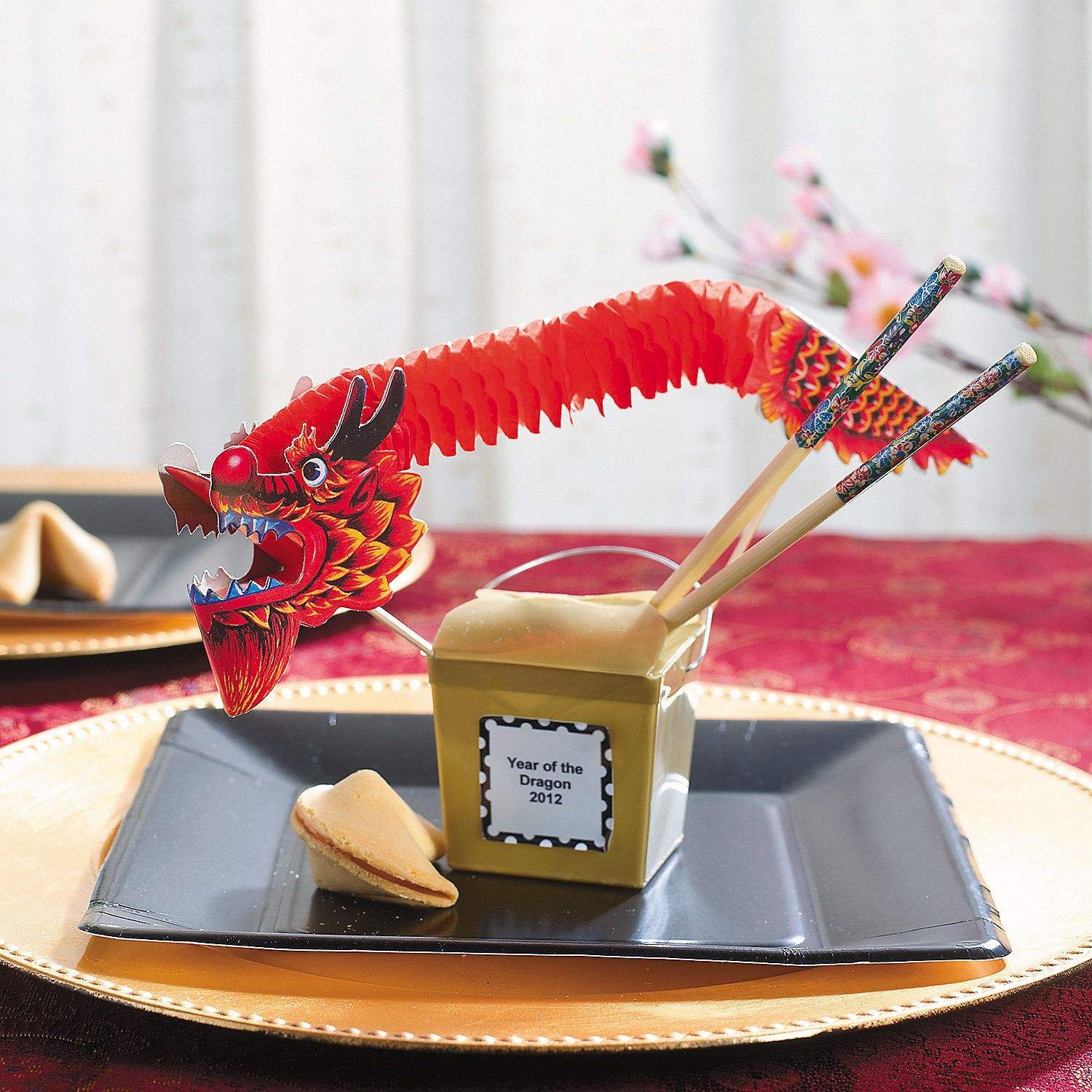Charming Chinese Theme Party Decoration Ideas Part - 5: Chinese New Year Take Out Boxes - OrientalTrading.com Cute Table Setting