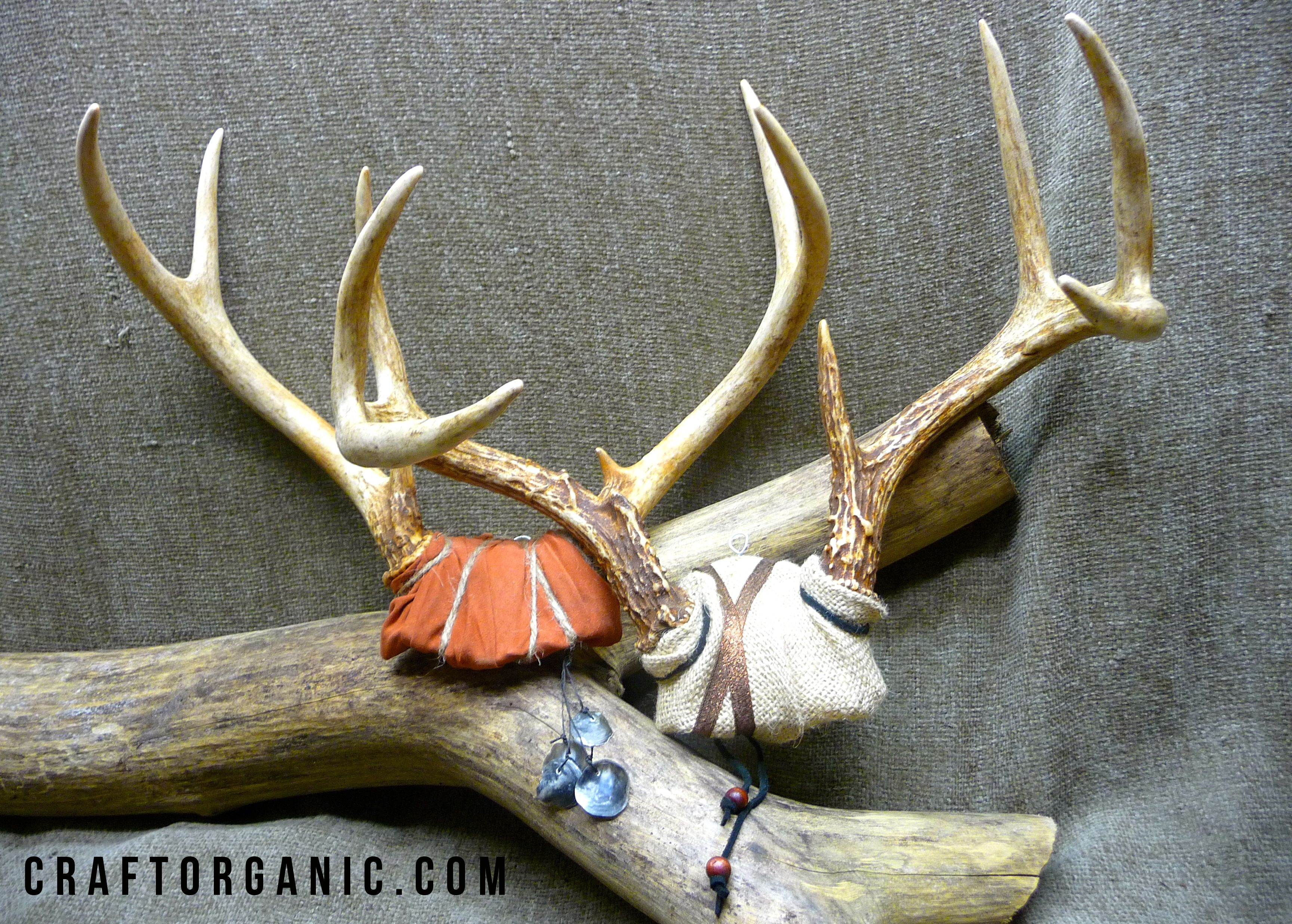 Decorative Deer Antler Mount